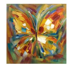 Lavinia Butterfly Oil Painting | IMAX Worldwide Home | Your Leading Supplier for Home and Garden Accessories 76144