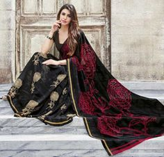 Black Color Georgette Office Wear Sarees : Aashika Collection  YF-41146
