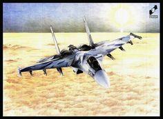 Su - 27 Flanker made by Jakub Michałkiewicz in DOMIN Radom drawing school / Su - 27 Flanker wykonany przez Jakuba Michałkiewicza w szkole rysunku DOMIN Radom  https://www.facebook.com/DominRadom