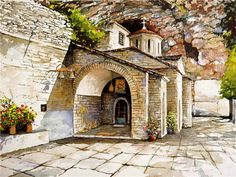 Today we want to show you stunning watercolor paintings of Greece created by artist Pantelis Zografos. For 30 years Pantelis Zografos doesn't live in Greece, but love to Watercolor Architecture, Watercolor Landscape, Watercolor Paintings, Abstract Paintings, Art Paintings, Belle Image Nature, Art Aquarelle, Beautiful Series, Beautiful Life
