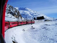 Blog: The Alps and beyond by Train Bernina Express, Trans Siberian, Swiss Railways, Blue Train, Italy Holidays, Holiday Activities, Water Sports, Alps, Mount Everest