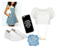 """""""I dont know a title #one?#"""" by lucia900p on Polyvore featuring Casetify, Sydney Evan, Sharpie, TrickyTrend and overalls"""