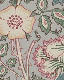 Tapet Pink & Rose Eggshell/Rose från William Morris & Co