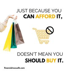 """Sometimes, an """"affordable"""" purchase may not stretch your financial limits, but it doesn't mean that it's always the best use of your money. Financial Tips, Financial Literacy, Finance, Good Things, Money, Silver, Economics"""