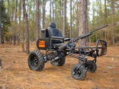 A wheelchair for hunting
