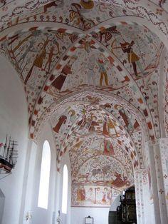 """Stevnsfortet og Møns Klint 278-101"" by Johan.dk on Flickr - Fanefjord church frescoes, dating back to the 13th and 16th centuries:  Island of Mon, Denmark."