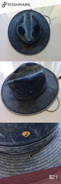 Hatquarters Blue Denim Fedora Size Small Hatquarters Blue Denim Hat in Fedora style. NWOTS. Size Small. Hatquarters Other