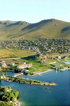 Sights of Lake Sevan, Armenia.