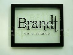 Personalized Floating Frame With Names and Date Unique Wedding Anniversary Gift 8 x 10 inch Home Decor on Etsy, $35.00