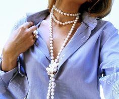 http://qstomizate.blogspot.com.es/ QST Qstomizate how to wear a pearl necklace