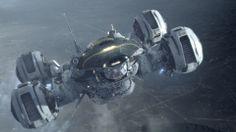 Coole wallpaper van het schip Prometheus uit de gelijknamige film. Het schip geeft voor mij status en macht weer.