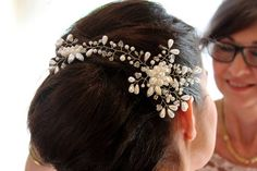Kary M Designs Bridal Beaded Vine Clip // D & N Photography