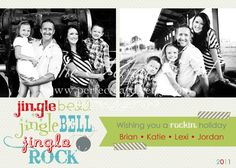 Jingle Bell Rock Holiday Photo Card. $18.00, via Etsy.