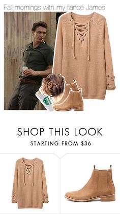 """""""Fall mornings with my fiancé James"""" by alphagabi ❤ liked on Polyvore featuring Mollini and JamesFranco"""