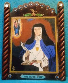 The Blue Nun - St. Maria Agreda - pinned by pin4etsy.com