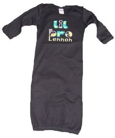 Boutique Lil  bro Gown in black or white Size 0 to 3M on Etsy, $19.99~Want this to take baby boy home in.