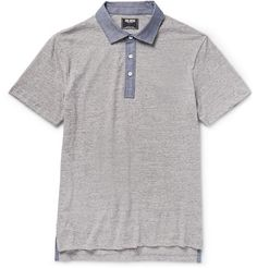 Todd Snyder Chambray-Trimmed Cotton-Jersey Polo Shirt | MR PORTER