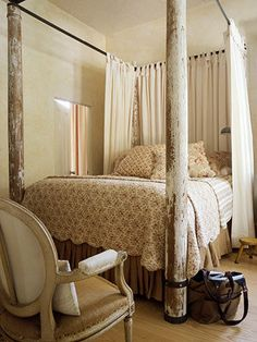 loving the added hard texture to such a soft and frou frou space.