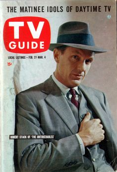 """Robert Stack of """"The Untouchables"""" February 27-March 4, 1960"""