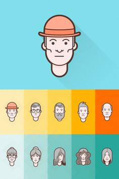 Material Design Flat Avatar handy and unique avatar set that can be used for different purposes: from creating personas to picking random default images for your comment section or dashboards. The icons are available in AI, PSD and PNG formats, and can be used without any restrictions.