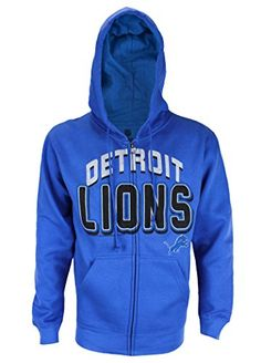 Detroit Lions NFL Mens In The Pocket Full Zip Fleece Hoodie Royal Blue >>> Be sure to check out this awesome product.