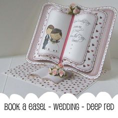 Book easel card