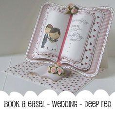 Book easel card