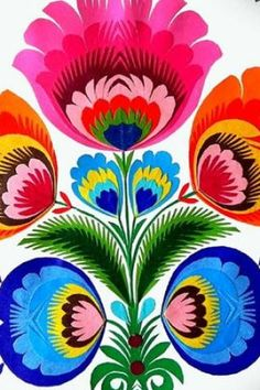 bold folklore simplistic ethnic floral graphic.....so in love!