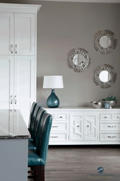 Gray is definitely the hottest neutral out there and today I am bringing you the best warm gray or greige paint colors that you should be using in your home. Yellow Paint Colors, Best Paint Colors, Paint Colors For Home, White Colors, House Colors, Dark Grey Kitchen Cabinets, Gray And White Kitchen, White Kitchens, Dorian Gray