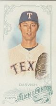 2015 Topps Allen & Ginter Mini #261 Yu Darvish - Texas Rangers