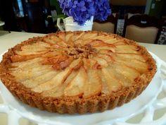 Mennonite Girls Can Cook: Pear Tart (with flour-oatmeal-walnut crust)
