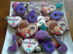 Justin Bieber Cookies ~Hmmm, Wesley's b-day is coming up soon.