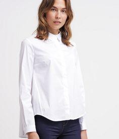 Tonno & Panna POLINA Koszula damska biała dłuższa z tyłu white