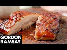 Slow-Roasted Pork Belly - Gordon Ramsay   Slow-roasting really locks in the flavours, and the end result will be a delicious crispy delight perfect to share with family and friends. #picsandpalettes