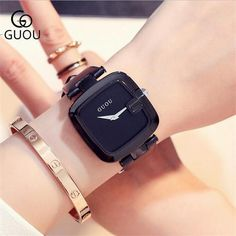 GUOU Watch Brand Soft Genuine Leather Women Watches Simple Vogue Ladies Watch Clock bayan kol saati relogio feminino reloj mujer Outfit Accessories From Touchy Style Simple Watches, Cute Watches, Cheap Watches, Women's Watches, Wrist Watches, Vogue, Rose Gold Watches, Watch Brands, Fashion Watches