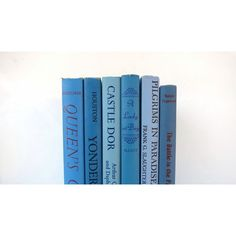 Colors of Blue Vintage Books /Book Decor Book Bundle /Instant Library... ($34) ❤ liked on Polyvore featuring home, home decor, blue home accessories and blue home decor