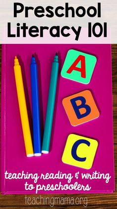 how to teach literacy to preschoolers