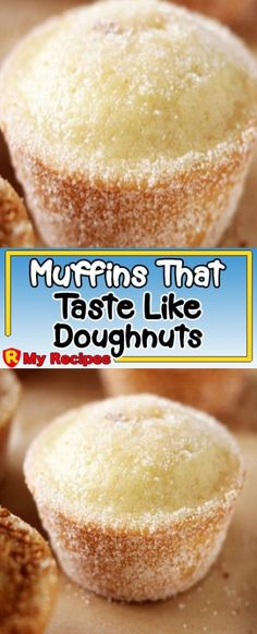 Why eat a calorie-filled donut when you can have a yummy muffin that tastes just as good! I have made these for years my family loves them a treat my son in law enjoys when I Donut Recipes, Muffin Recipes, My Recipes, Baking Recipes, Sweet Recipes, Cake Recipes, Dessert Recipes, Favorite Recipes, Recipies
