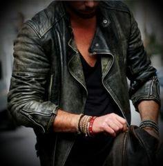 Man style leather jacket