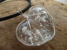 Glass Heart Cremation Ash Memorial Jewelry by infusionglass