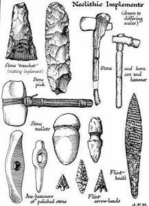 The Stone Age marks the first appearance of the beasts known as humans and gets its name because these creatures used stone tools. Scientists have divided the period into three distinct phases: Paleolithic, Mesolithic and Neolithic. Stone Age Tools, Stone Age Art, Native American Tools, Native American Artifacts, Indian Artifacts, Ancient Artifacts, Paleolithic Era, Early Humans, Iron Age