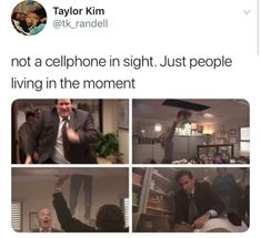 Dwight started a fire and cut the phone lines and jammed the doors and gave Stanley a heart attack Best Funny Images, The Funny, Funny Relatable Memes, Funny Posts, The Office Show, The Office Season 5, The Office Facts, Office Jokes, Lol