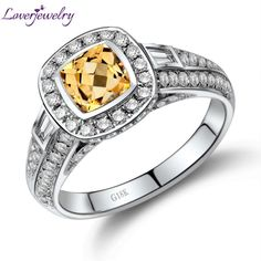 Cheap 750 white gold, Buy Quality ring ring directly from China ring gold white Suppliers: Cushion Solid White Gold Diamond Yellow Citrine Ring,Bezel Setting Citrine Ring 750 White Gold Yellow Sapphire Rings, Thing 1, Cushion Ring, Citrine Ring, Wedding Ring Bands, White Gold Diamonds, Diamond Cuts, Rings For Men, Fine Jewelry