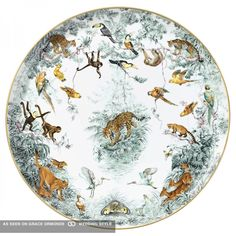 hemes china safari pattern luxury wedding gift