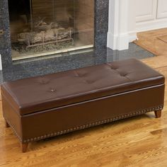 Christopher Knight Home Gavin Bonded Leather Storage Ottoman   Overstock™  Shopping   Great Deals On