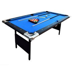 The Hathaway Fairmont 6 ft. Portable Pool Table is neither big nor small pool table. Its space-friendly feature, quality felt, nice cushion and sturdy MDF pool table top definitely touch the buyers. 6 Foot Pool Table, Folding Pool Table, Small Pool Table, Pool Tables For Sale, Best Pool Tables, Outdoor Pool Table, Billiard Pool Table, Billiards Pool, Backyard Patio