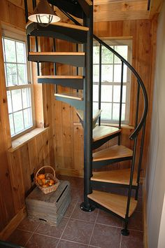 Choose your DIY or custom-made steel spiral stairs and beautify your home with our great steel spiral staircase kits and bespoke design options. Loft Staircase, Attic Stairs, Basement Stairs, Spiral Staircases, Staircase Ideas, Basement Ceilings, Staircase Outdoor, Small Staircase, Basement Ideas