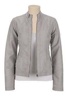 Faux Leather Moto Jacket available at #Maurices