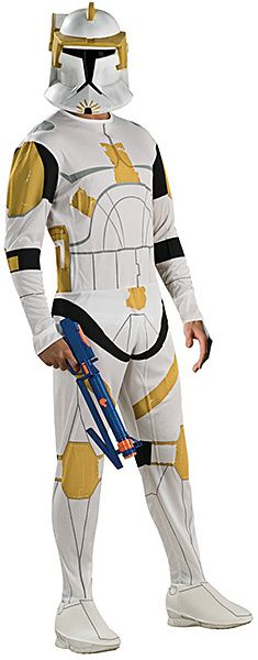 Yellow & White Clone Stormtrooper Costume Set - Adult