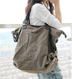 Canvas bag shoulder bag, unisex
